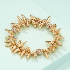 Stella & Dot Gold Renegade Cluster Bracelet - Gold